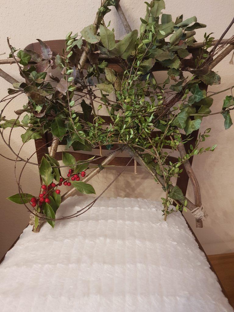 Nachhaltige Geschenkidee No.1 zu Weihnachten: ein Weihnachtsstern aus Holz